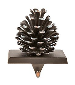LivingQuarters Pinecone Stocking Holder