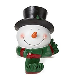 LivingQuarters Snowman Head Stocking Holder
