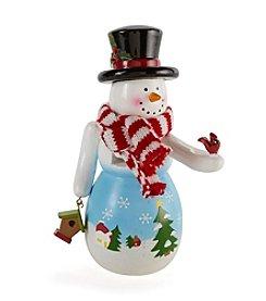 LivingQuarters Snowman Nutcracker