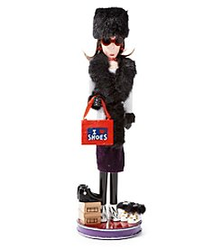 LivingQuarters Shopping Girl Nutcracker