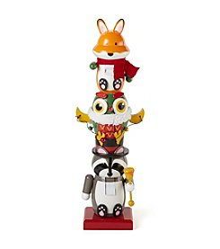 LivingQuarters Stacked Animal Nutcracker