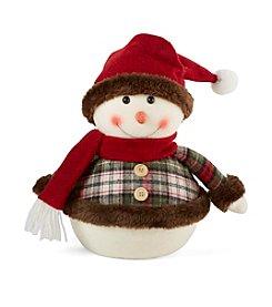 LivingQuarters Snowman Boy Plush