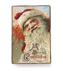 LivingQuarters Vintage Santa Wall Art