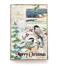 LivingQuarters Christmas Birds Wall Art