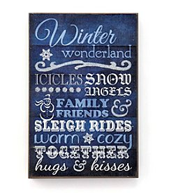 LivingQuarters Winter Typography Wall Art