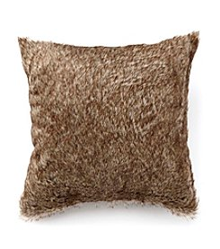 LivingQuarters Rustic Lodge Collection Fur Herringbone Pillow