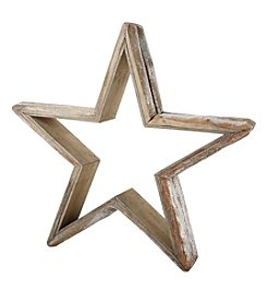 LivingQuarters Rustic Lodge Collection Medium Wood Star