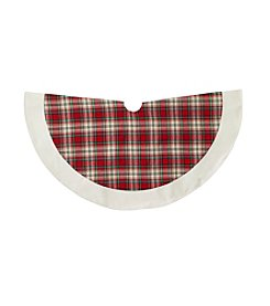 LivingQuarters Rustic Lodge Collection Plaid Tree Skirt