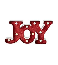 LivingQuarters Snowman Collection Glitter LED Joy Sign