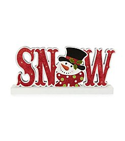 LivingQuarters Snowman Collection Snowman LED Snow Sign