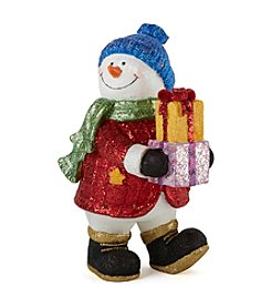 LivingQuarters Snowman Collection Snowman with Presents Figurine