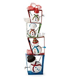 LivingQuarters Snowman Collection Stacked Snowmen