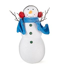 LivingQuarters Snowman Collection Snowman with Earmuffs and Scarf