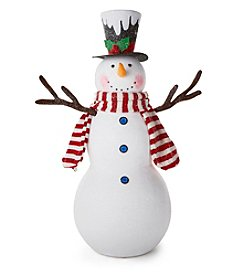 LivingQuarters Snowman Collection Snowman with Tophat and Scarf