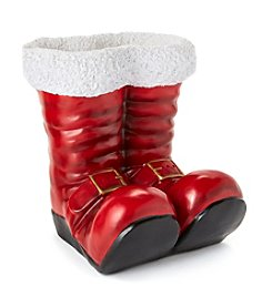 LivingQuarters Snowman Collection Santa Boots Decoration