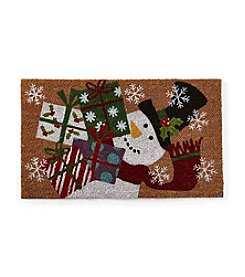 LivingQuarters Snowman Collection Snowman Coir Mat