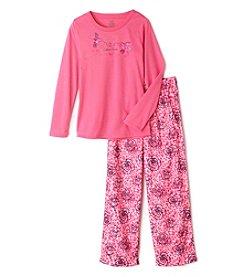 Calvin Klein Girls' 5-16 2-Piece Rose Pajama Set