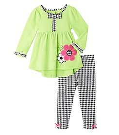 Nannette® Baby Girls' 2-Piece Flower Top And Leggings Set