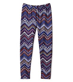 Miss Attitude Girls' 7-16 Chevron Leggings