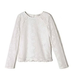 Jessica Simpson Girls' 7-16 Long Sleeve Lace Top