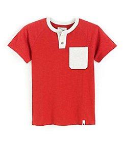 Lucky Brand® Boys' 4-20 Short Sleeve Raglan Henley Tee