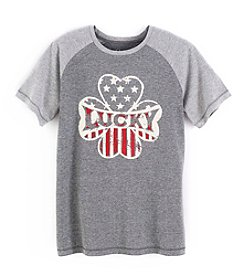 Lucky Brand® Boys' 4-20 Short Sleeve Four Leaf Clover Tee