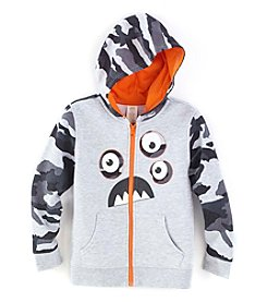MIx & Match Boys' 4-7 3D Monster Full Zip Hoodie