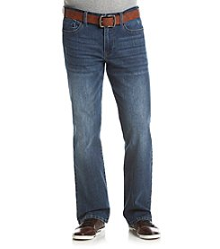 T.K. Axel MFG Co. Men's Relaxed Straight Belted Manchester Jeans