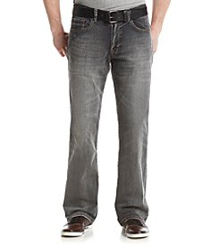 T.K. Axel MFG Co. Men's Slim Straight Belted Stonington Jeans