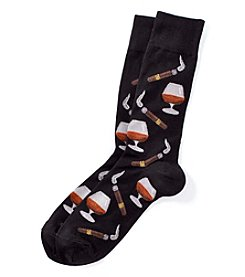 Hot Sox® Men's Cognac And Cigar Dress Socks