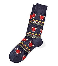 Hot Sox® Men's Fox Fair Isle Dress Socks