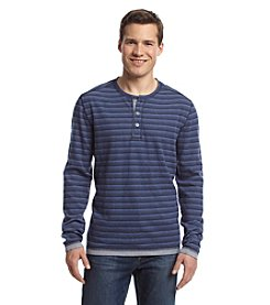 Paradise Collection® Men's Long Sleeve Stripe Henley