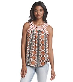 Jolt® Printed Round Neck Tank Top