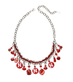 accessory PLAYS™ NCAA University Of Nebraska Frontal Shaky Collar Necklace