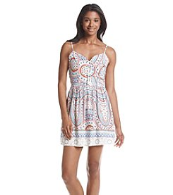 Be Bop Spirograph Lace-Up Dress