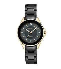 Anne Klein® Diamond Accented Ceramic Bracelet Watch