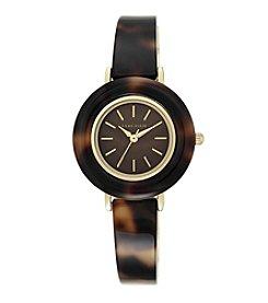 Anne Klein® Tortoise and Goldtone Bangle Watch
