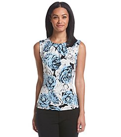 Calvin Klein Pleated Neck Floral Cami