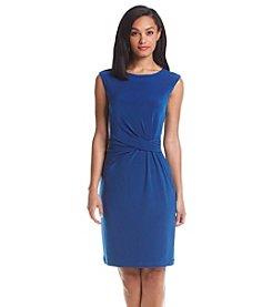 Anne Klein® Side Twist Pleated Dress
