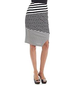 Calvin Klein Textured Mix Stripe Skirt