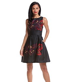 Taylor Dresses Printed Fit And Flare Flower Dress