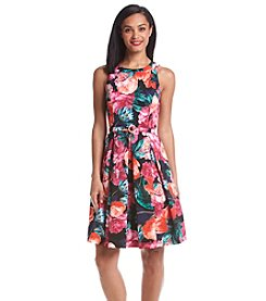 Eliza J® Floral Faille Party Dress