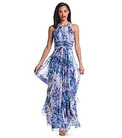 Eliza J® Chiffon Flyaway Gown
