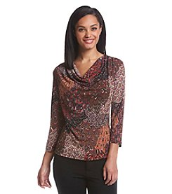 MSK® Drape Neck Social Top