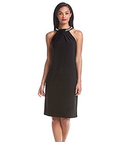 Nine West® Beaded Halter Shift Dress