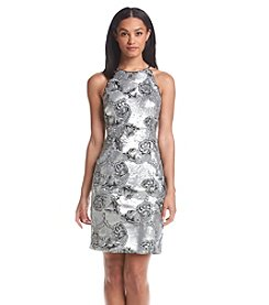 Calvin Klein Halter Floral Sheath Dress