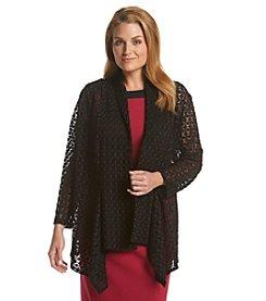 Kasper® Plus Size Flyaway Cozy Cardigan