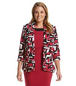 Kasper® Plus Size Printed Flyaway Jacket
