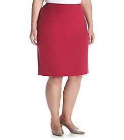 Kasper® Plus Size Solid Stretch Crepe Skirt