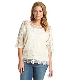 Democracy Plus Size Crochet Top
